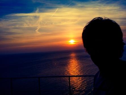 HikingArtist, Frits Ahlefeldt, sunset