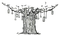 line drawing of electrical tree