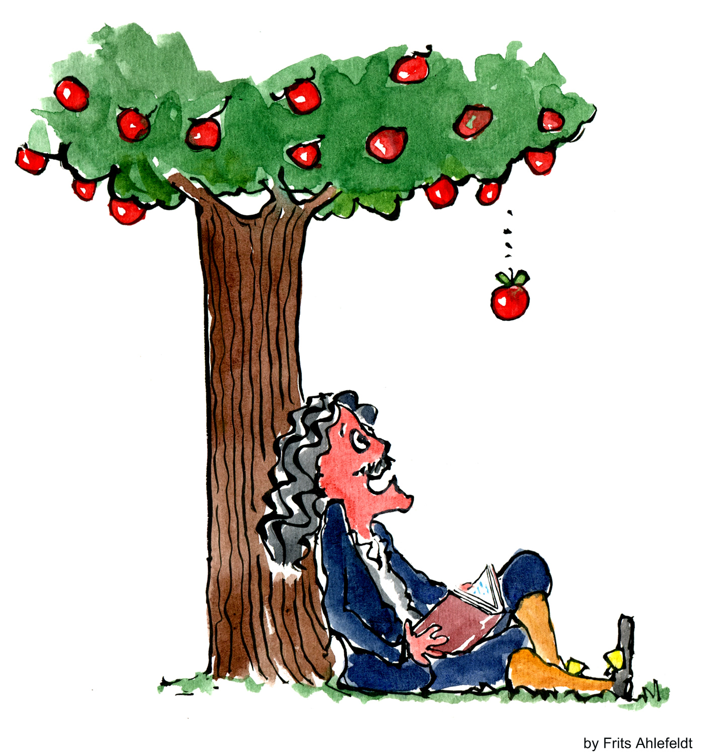 Image result for isaac newton apple