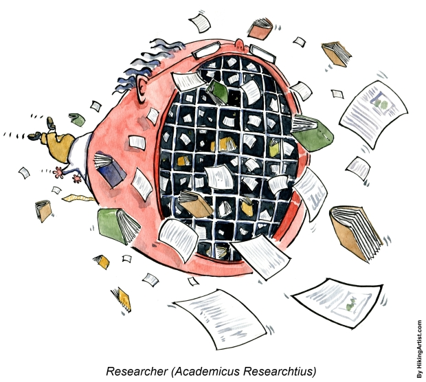 The academic researcher drawing of