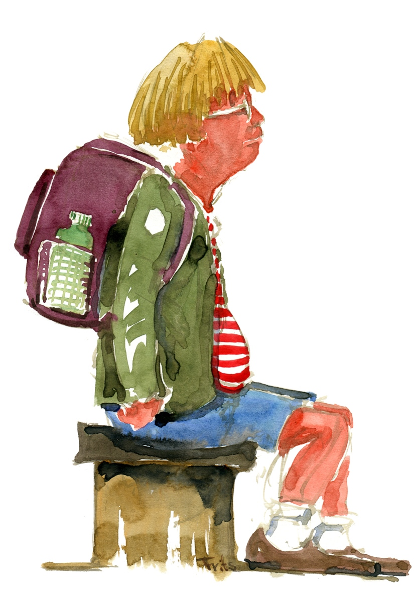 Watercolor People The Hiking Artist Project By Frits