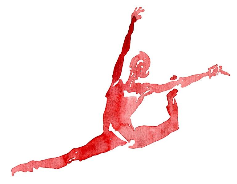 Watercolor sketch - ballet dancer
