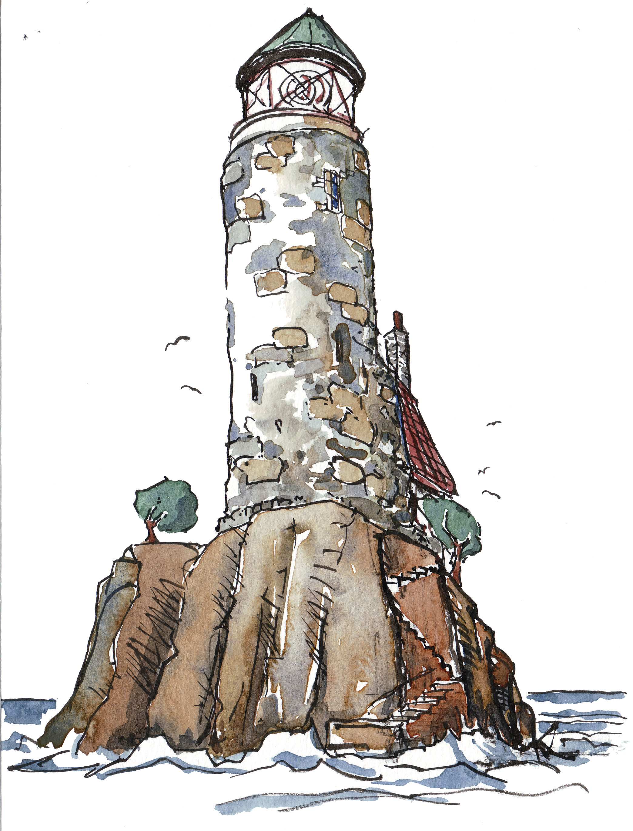 Lighthouse  The Hiking Artist Project By Frits Ahlefeldt