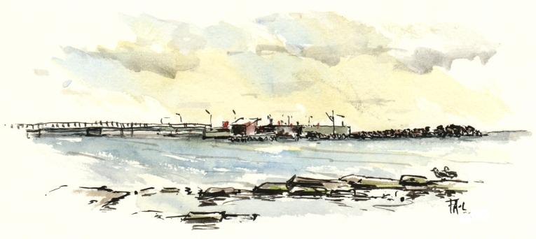 Snogebaek. Bornholm. Watercolor
