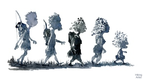 Walking as a family, ancient way