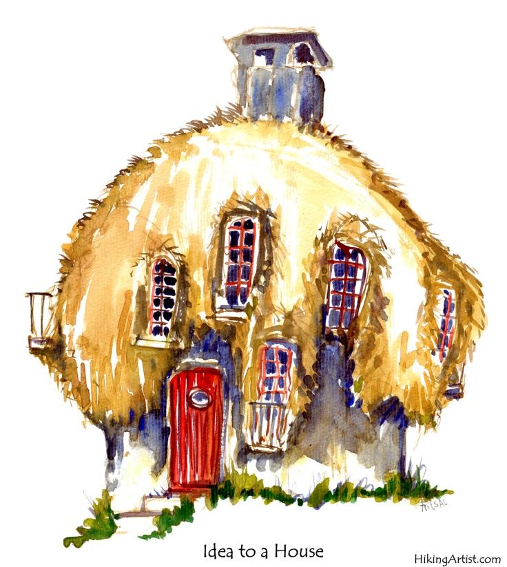 watercolor house sketch