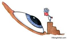 scientist looking at big eye