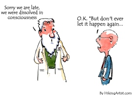 Scientist excused by consciousness