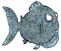 Fish thinking illustration