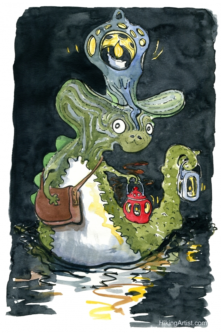 water Creature with an lantern
