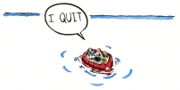 When quitting is not an option illustration