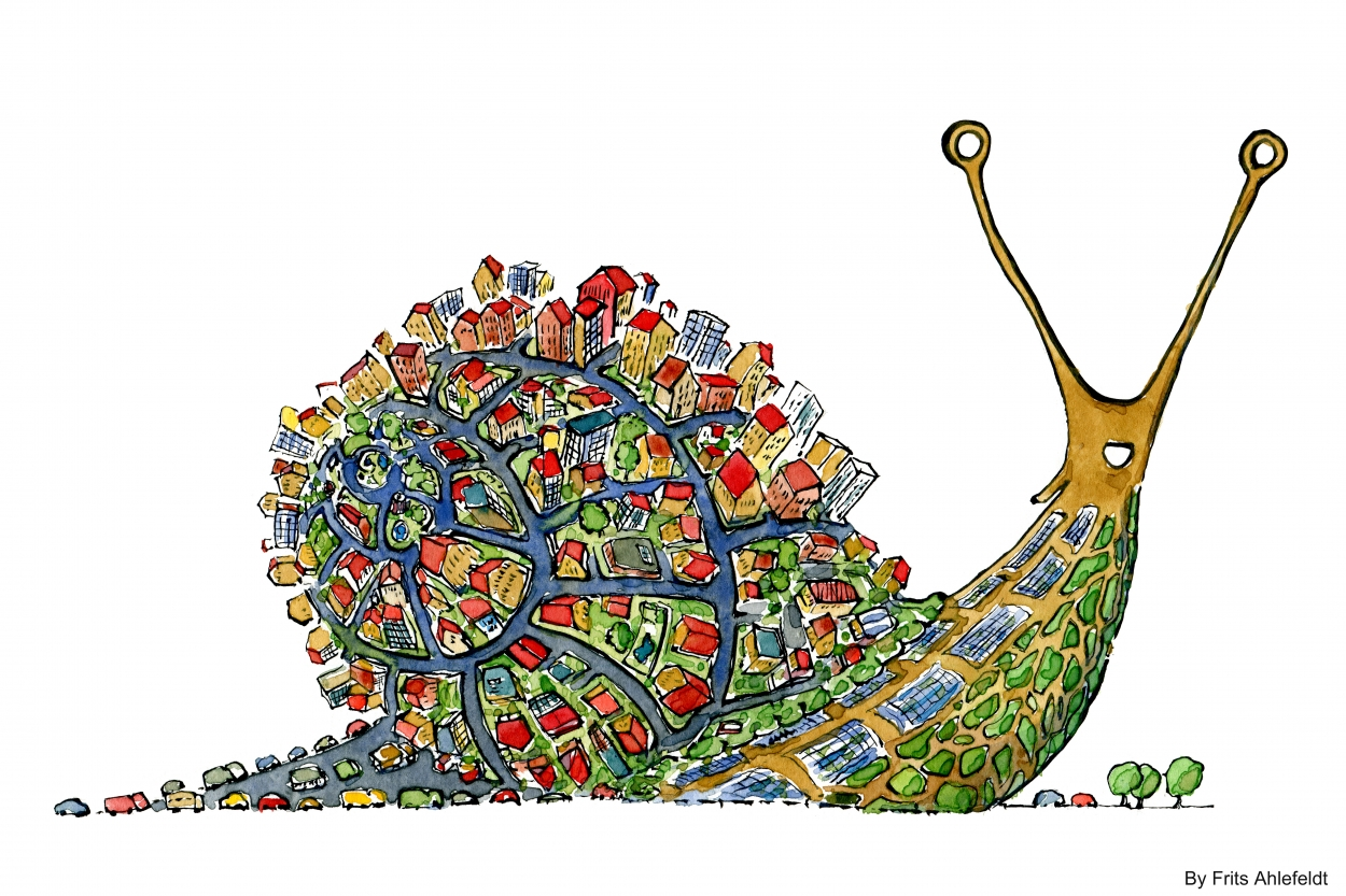 Sea Snail Drawing Drawing of a City Snail