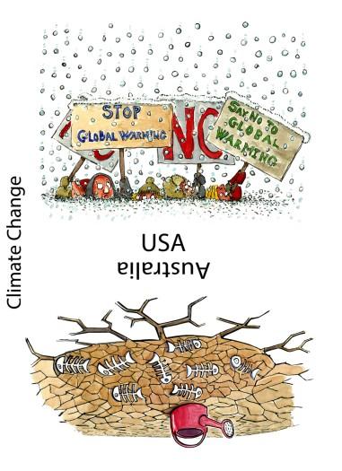USA and Australia facing extreme weather
