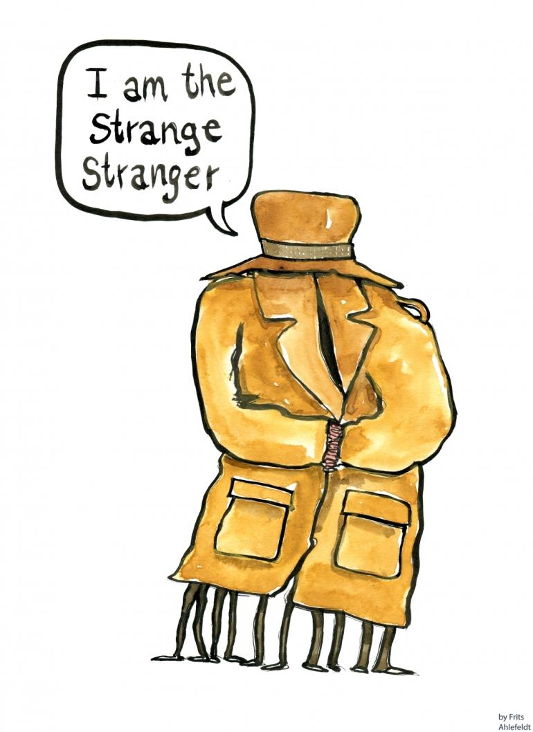 Drawing of a strange stranger