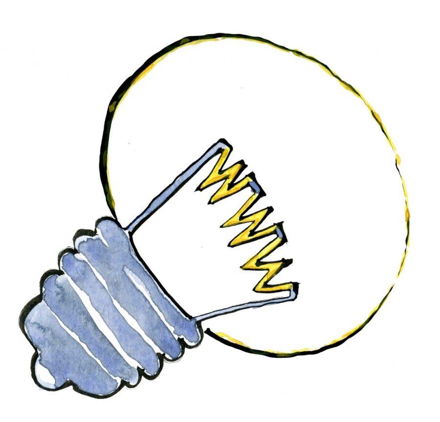 Light bulb with WWW in it