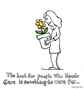 Woman with a flower drawing