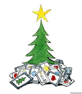 Christmas tree with tablets