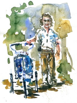 Jean Beliveau, long distance hiker walking around the world