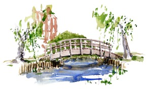 watercolor by Frits Ahlefeldt