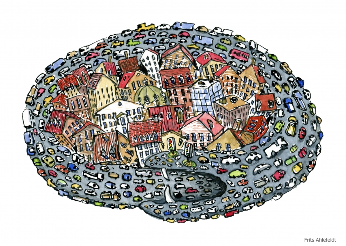 Cars, traffic and Cities | The Hiking Artist project by Frits Ahlefeldt