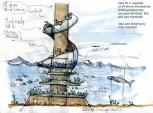 Wind turbine biodiversity