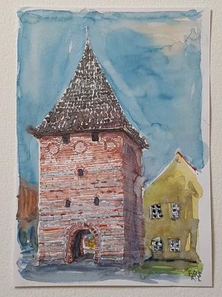 City gate ancient Stege, Moen, Denmark