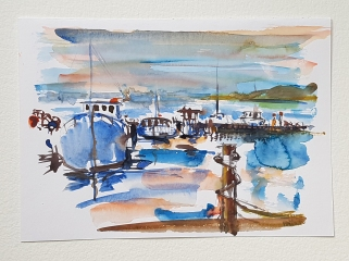 watercolor from The Danish Coastal trail