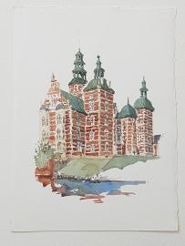 Rosenborg Castle Copenhagen Original watercolor