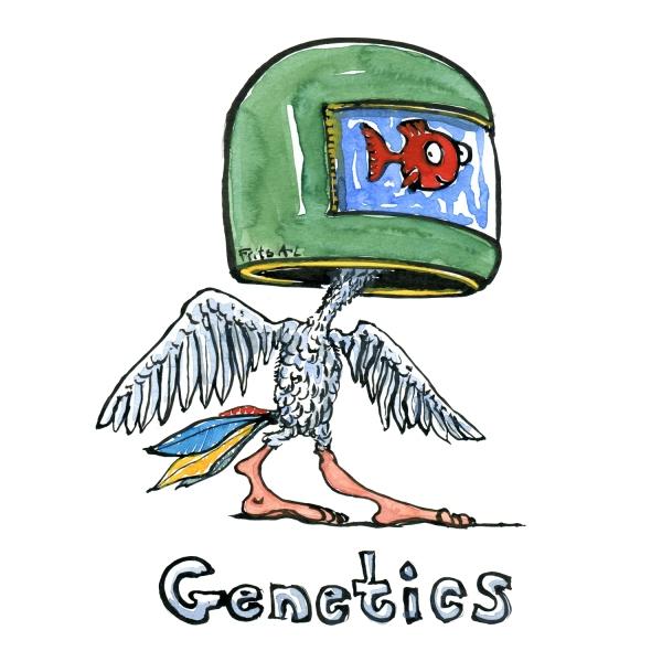Genetics Illustration of global drivers of change, by Frits Ahlefeldt