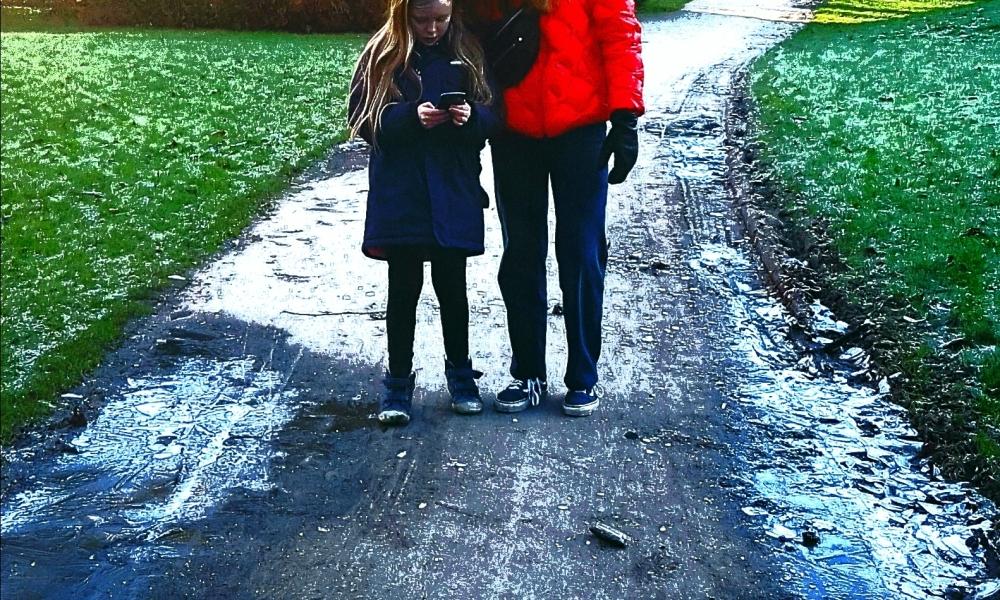 photo of two girls in Winter Copenhagen