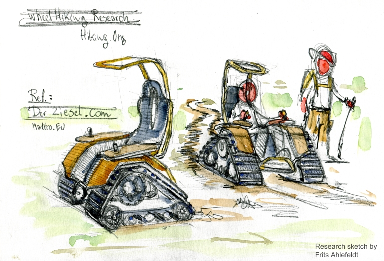 Terrain going vehicle Research sketch by Frits Ahlefeldt