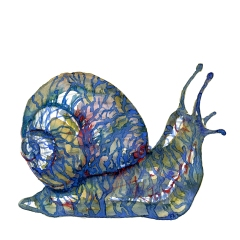 Snail with Tattoo like pattern Watercolor by Frits Ahlefeldt