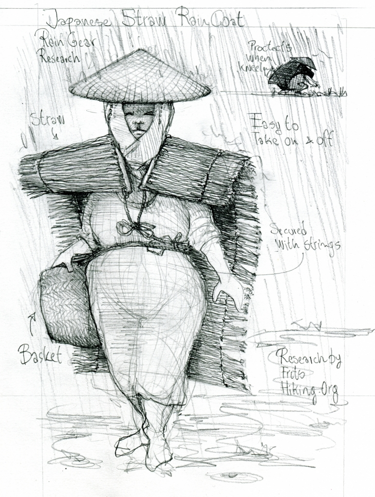 Rain gear Research sketch by Frits Ahlefeldt