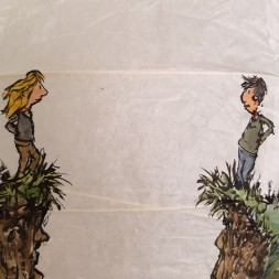 Man and woman by the gap - The gap and the tent sphere story detail by Frits Ahlefeldt