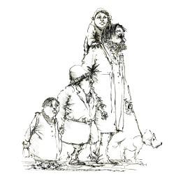 018-ink-sketch-strange-group-of-people-walking-by-frits-ahlefeldt-hat-square