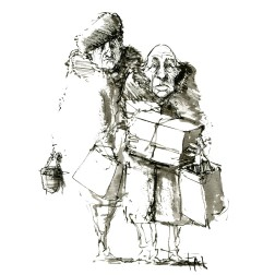 016-ink-sketch-old-couple-with-presents-by-frits-ahlefeldt-hat-square-fss1